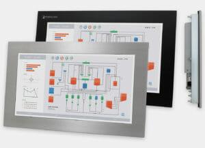 Monitor de montaje en panel industrial y pantalla táctil de 19,5