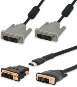 Cables de vídeo DVI con conectores DVI-D estándar, hasta 15,2 m