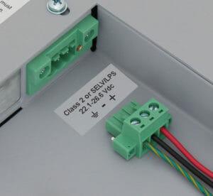 Bloque terminal de entrada de alimentación de CC con conector de bloqueo