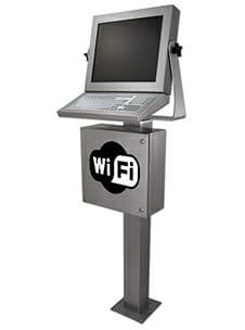 Estación de trabajo industrial con wifi activado