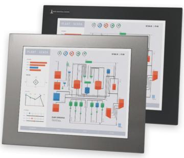 """Monitores industriales de montaje en panel y pantallas táctiles resistentes según IP65/IP66 de 17"""""""