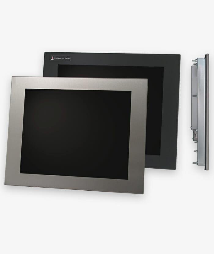 """Monitores industriales de montaje en panel y pantallas táctiles resistentes según IP65/IP66 de 17"""", historia"""
