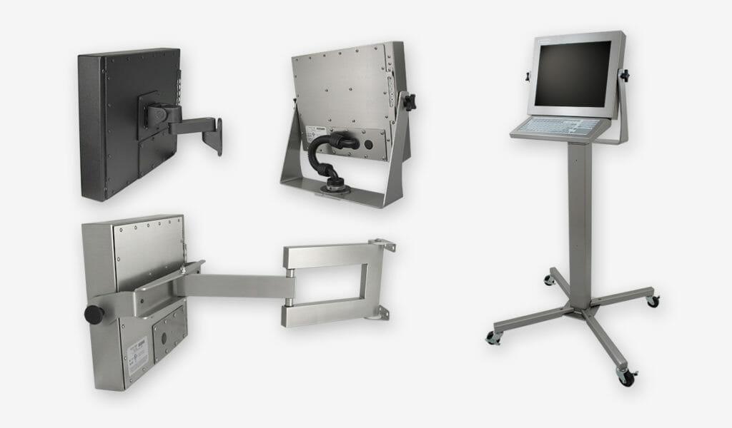 Opciones de montaje para monitores de montaje universal