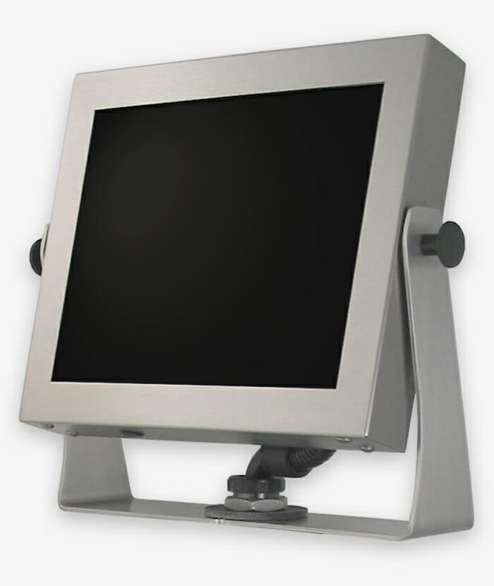 Monitores industriales de montaje universal y pantallas táctiles resistentes, completamente empotrados, IP65/IP66, historia