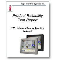 """Portada del informe sobre pruebas de fiabilidad de los monitores de montaje universal de 17"""""""