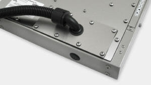 Opción de placa de cubierta de salida para cables de conducto con clasificación IP65/IP66 para monitores industriales de montaje universal