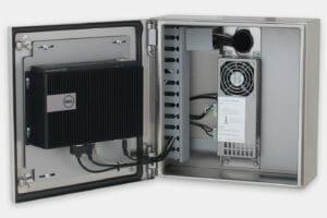 Carcasas industriales para thin-clients y PC pequeños, con Dell Box PC 3000 montado