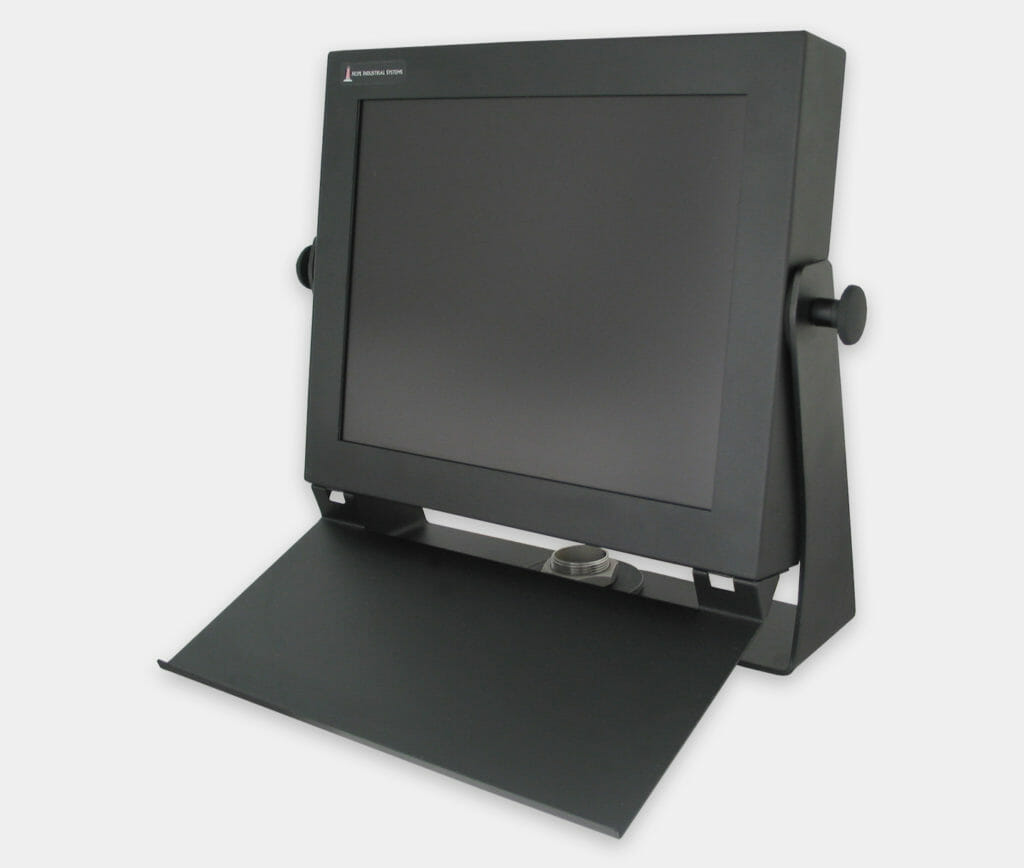 Bandeja de montaje para teclado industrial para acoplamiento a monitores de montaje universal