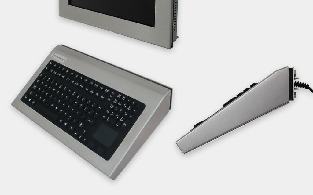 Teclados industriales de montaje en pared fijos con dispositivo de puntero, 35 grados Montaje, con clasificación IP65/IP66