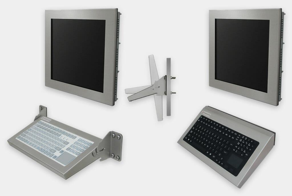 Opciones de teclados de montaje en pared industriales, modelos de montaje plegable y fijo