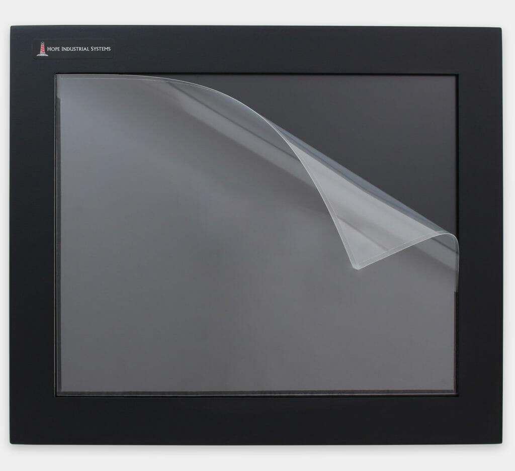 Protectores de pantallas industriales para monitores y pantallas táctiles resistentes