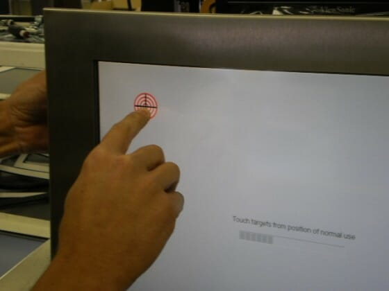 Demostración de alineación de pantalla táctil