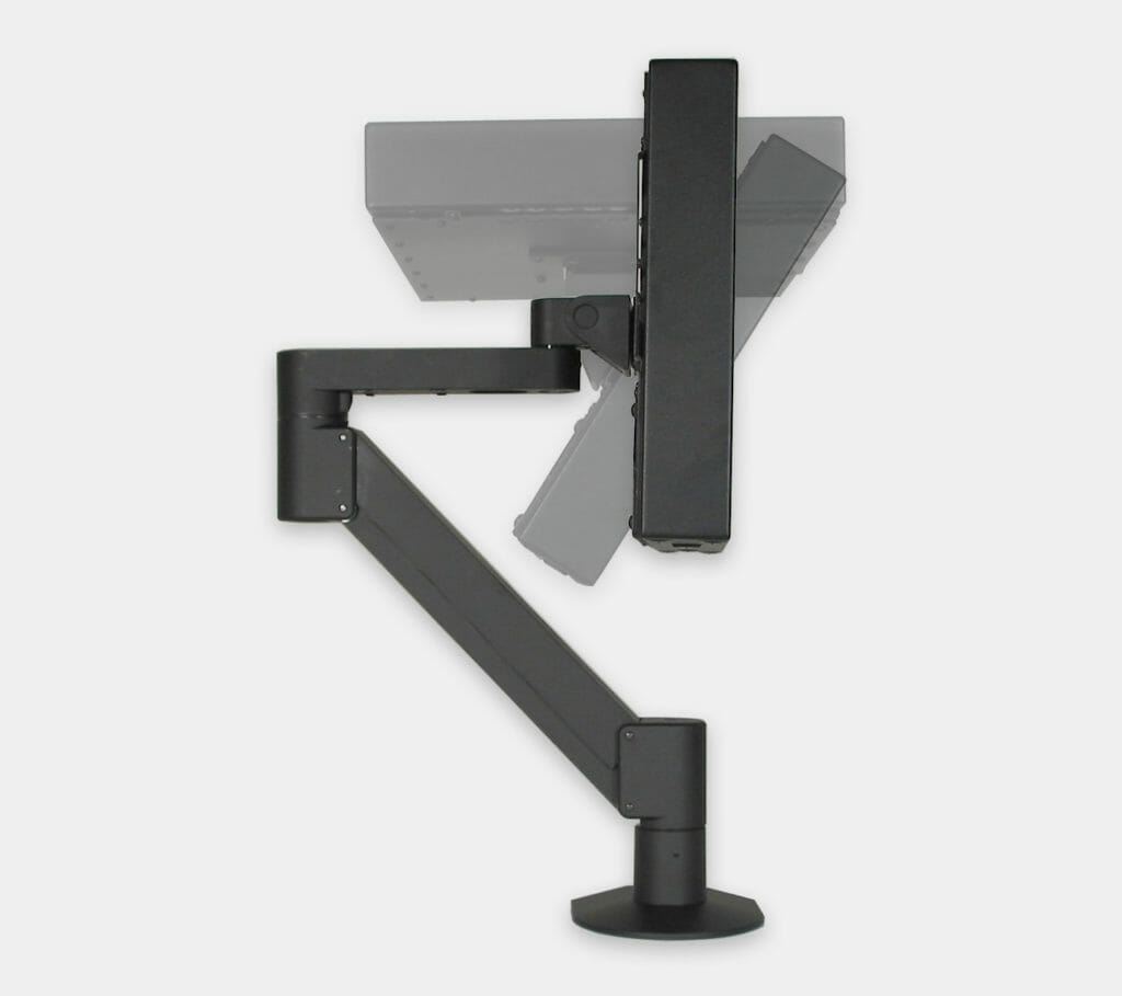 Soporte de brazo radial VESA para monitores industriales, rango de inclinación del monitor