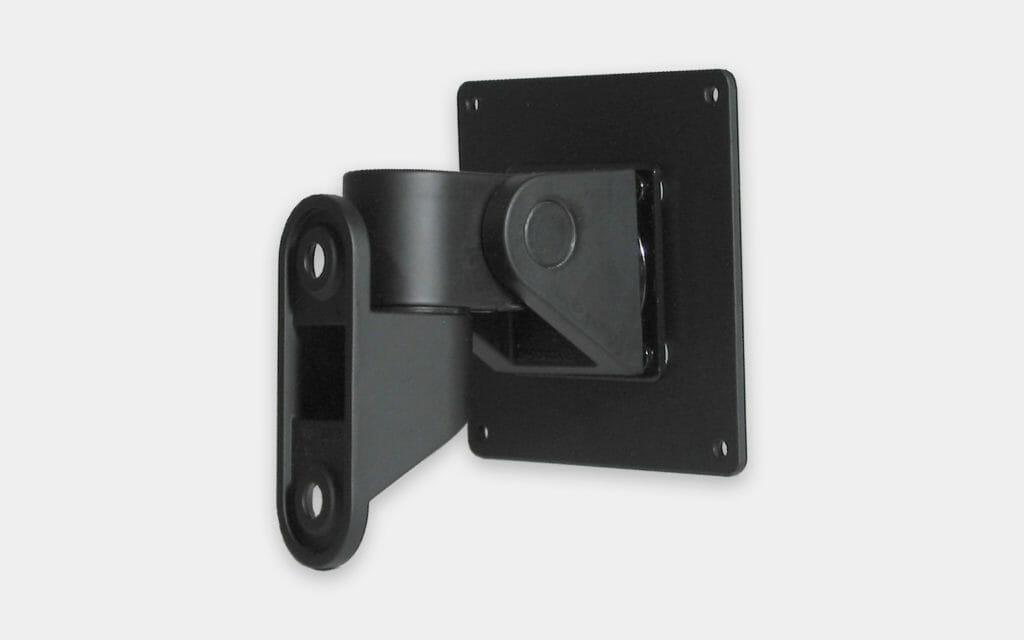 Soporte de montaje en pared VESA para monitores industriales, vista trasera del soporte