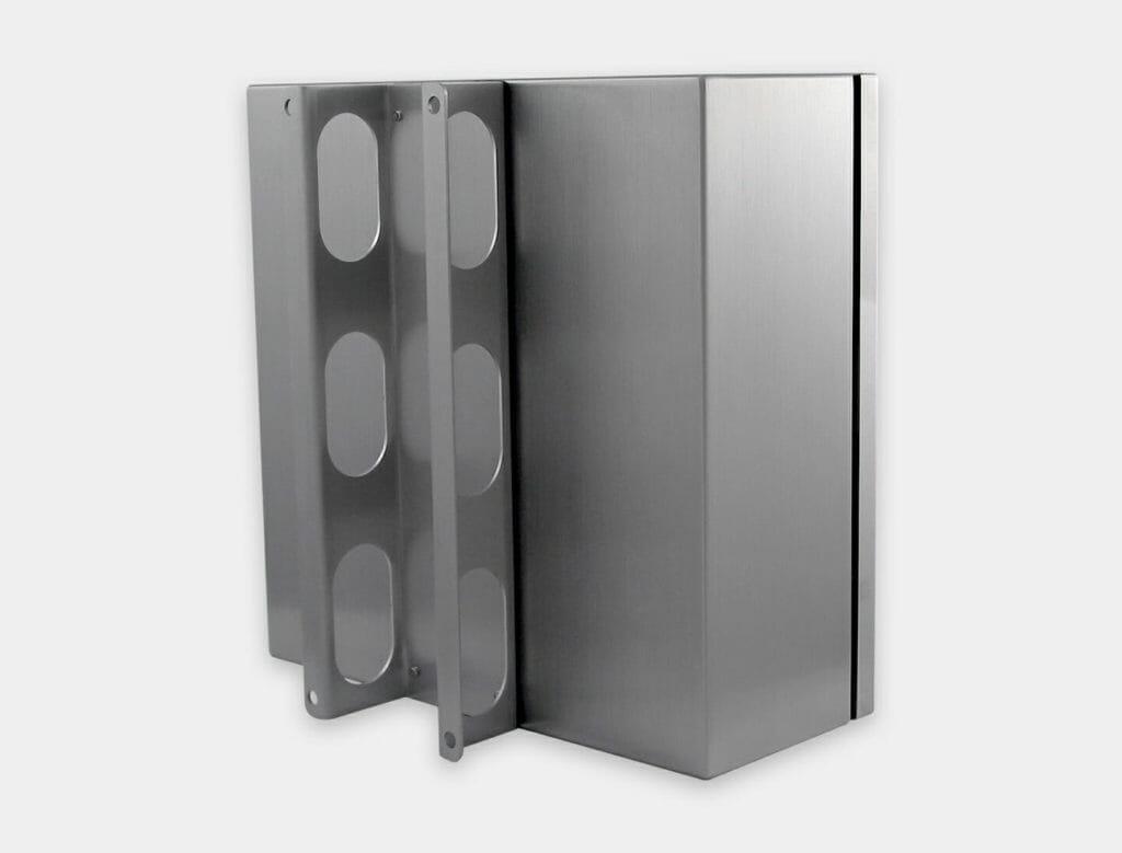Soporte de montaje en pared para carcasas industriales para thin-clients y PC pequeños, acero inoxidable