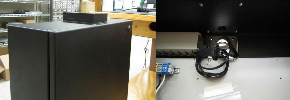 Vistas interior y exterior nuestra solución de carcasa de radomo de antena wifi