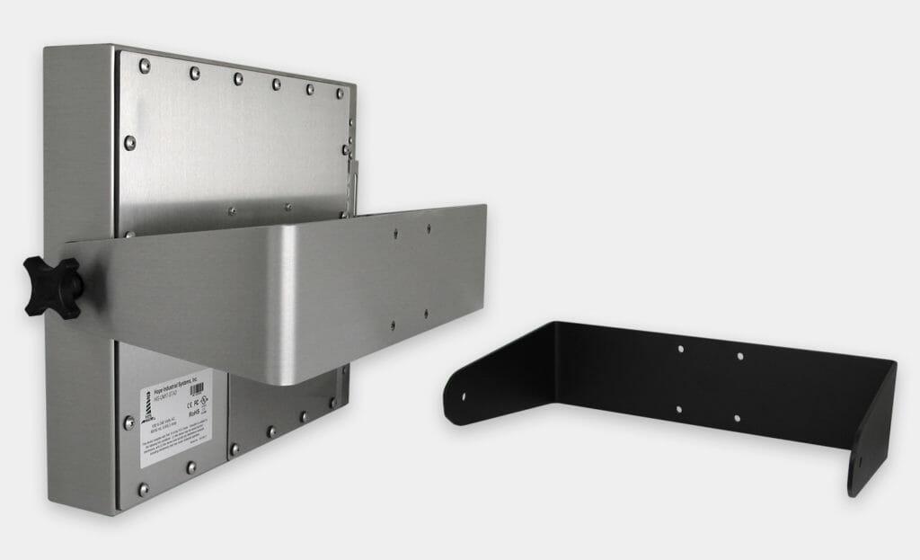 Soportes de fijación en pared para industria pesada para monitores de montaje universal, con clasificación IP65/IP66