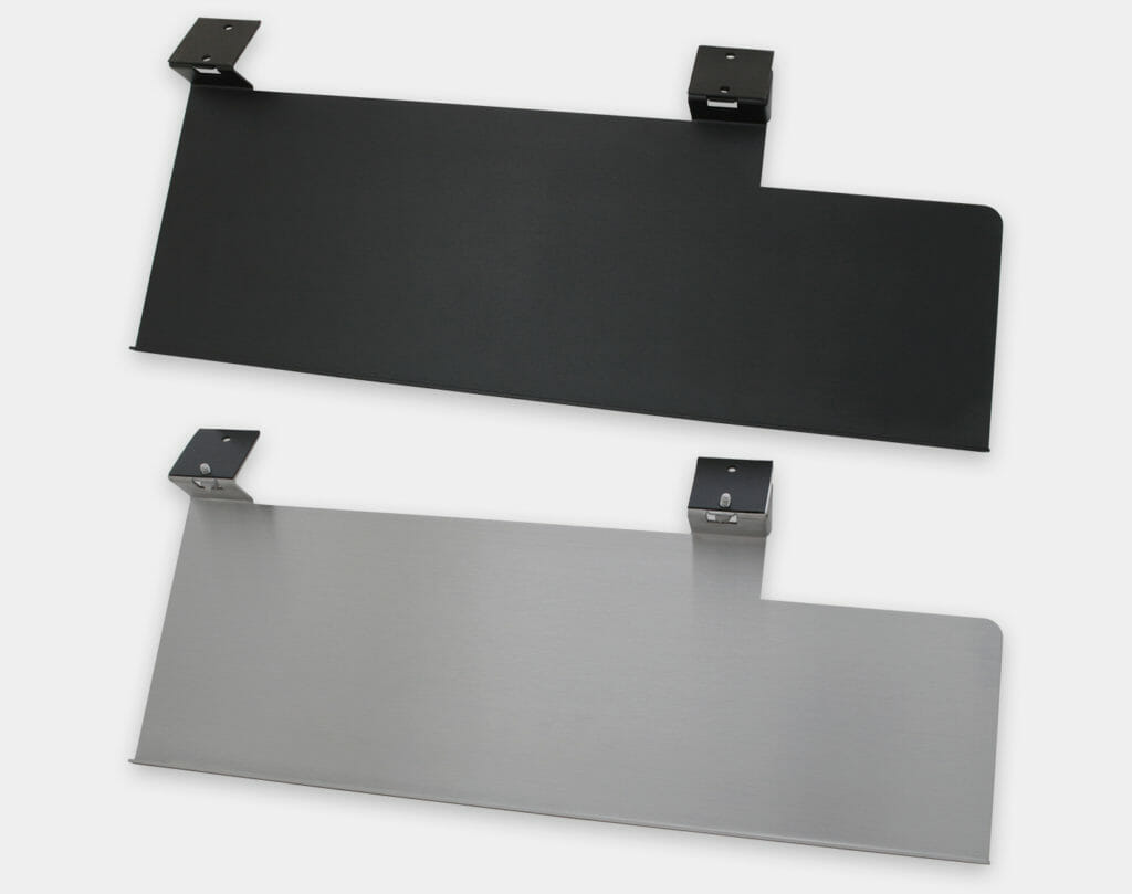 Industrial Keyboard Mounting Tray with Extension Tray for Mouse, top views